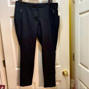 Sz 12 Black Worthington Ankle Pants NWOT Stretch